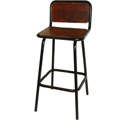 Rustikale Barhocker rustikaler barhocker mit lehne chic24 vintage möbel und