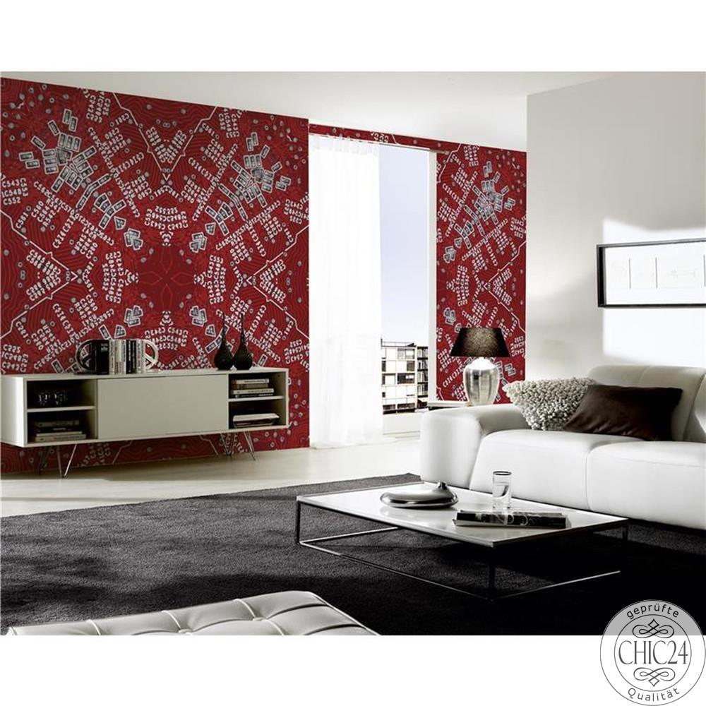 raumbilder tapeten digital typo chic24 vintage m bel. Black Bedroom Furniture Sets. Home Design Ideas