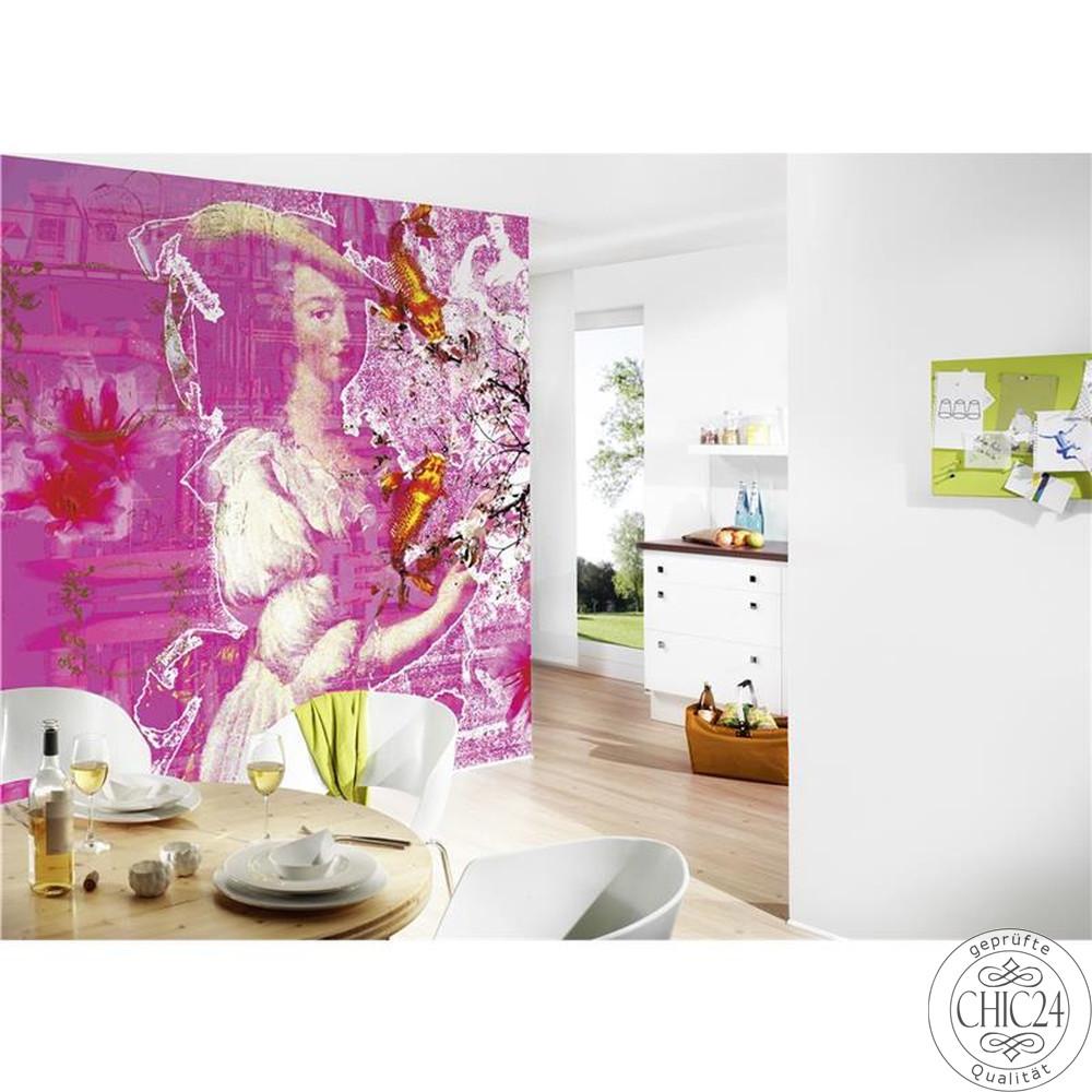 raumbilder tapeten factory pop chic24 vintage m bel. Black Bedroom Furniture Sets. Home Design Ideas