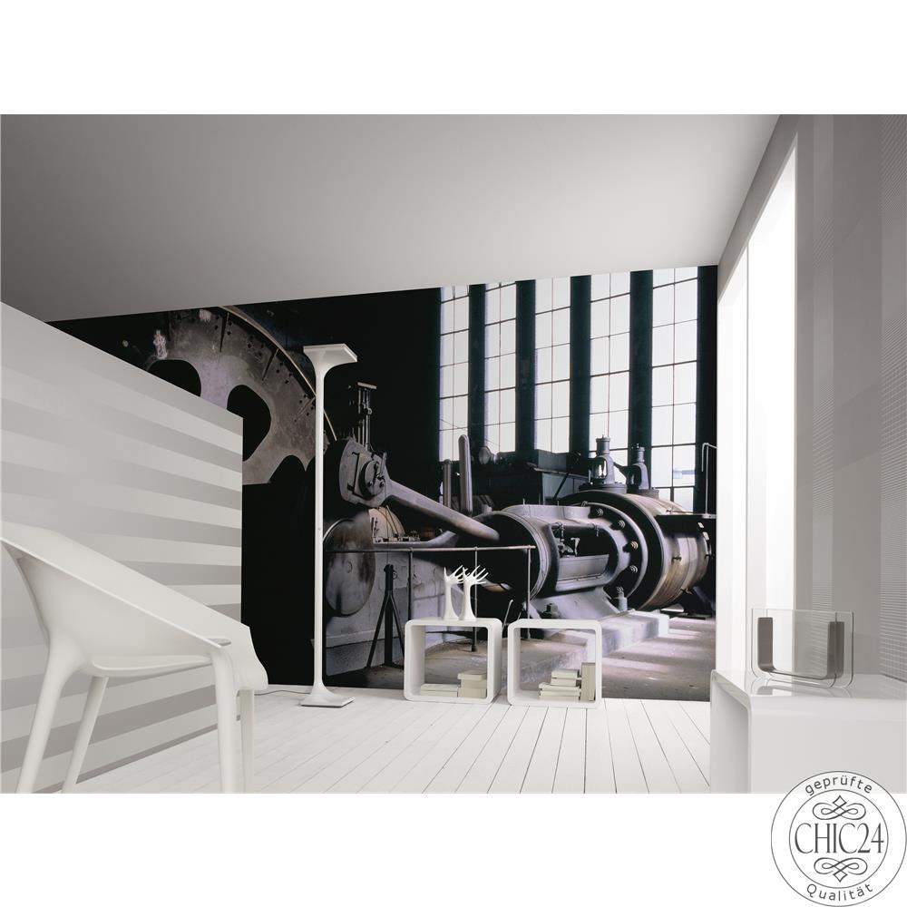 raumbilder tapeten power plant chic24 vintage m bel. Black Bedroom Furniture Sets. Home Design Ideas