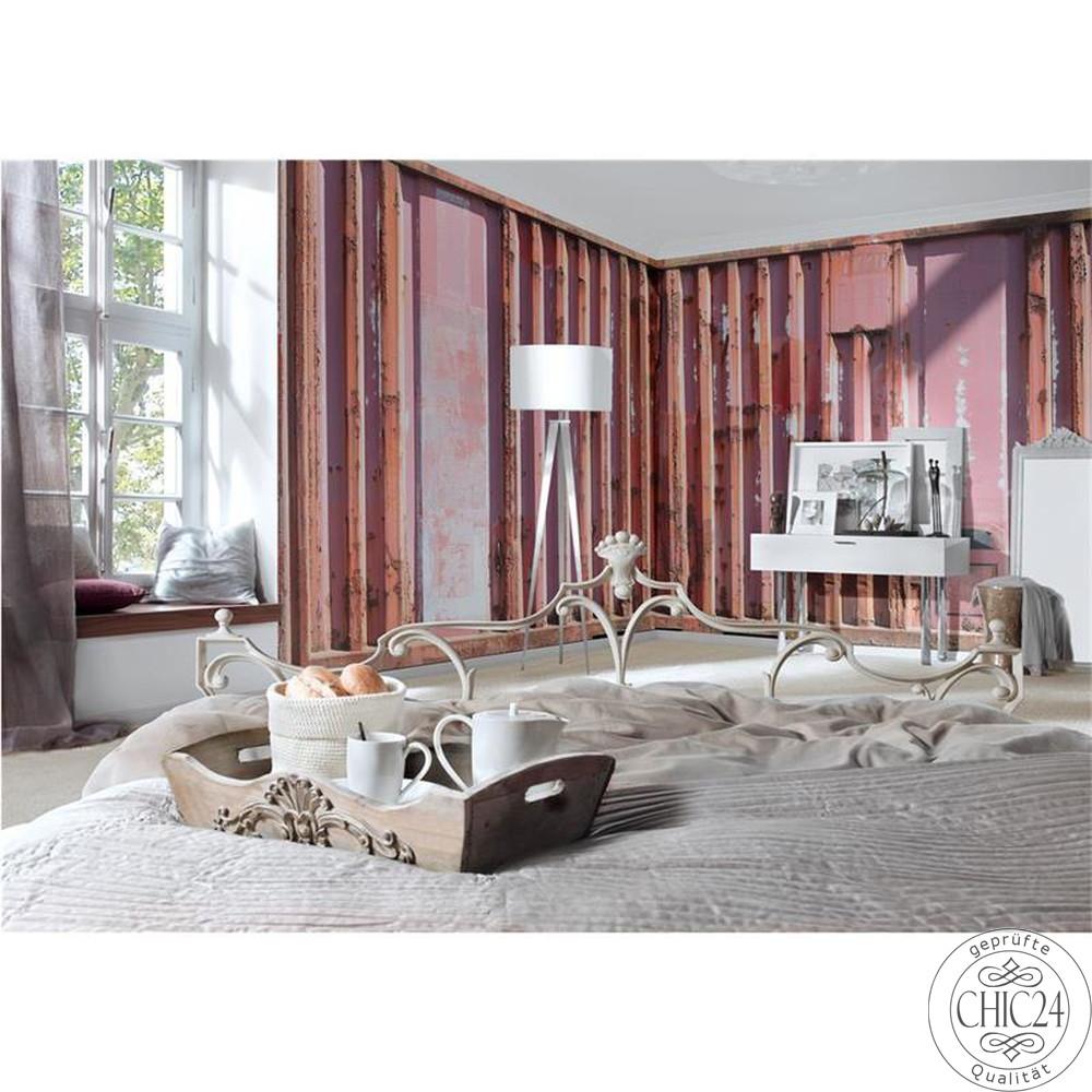 raumbilder tapeten container red chic24 vintage m bel. Black Bedroom Furniture Sets. Home Design Ideas