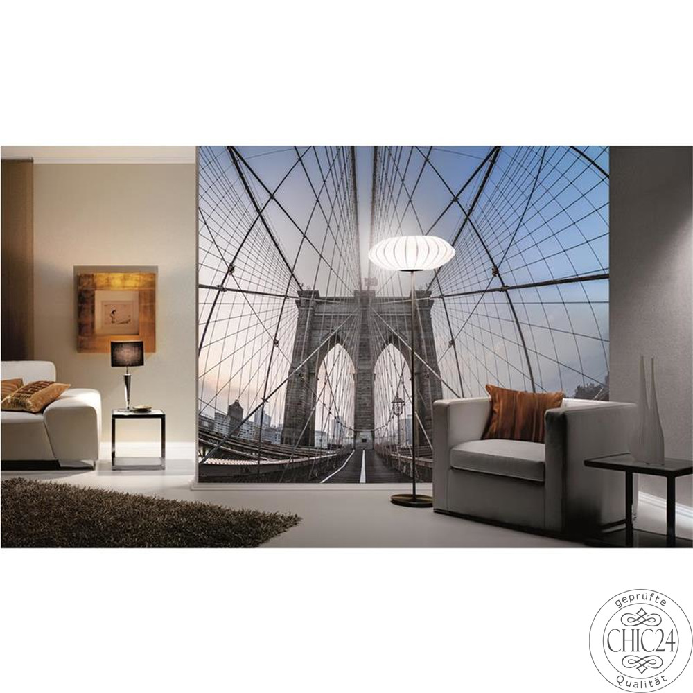 raumbilder tapeten brooklyn bridge chic24 vintage. Black Bedroom Furniture Sets. Home Design Ideas