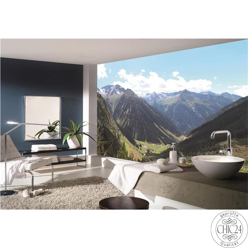 raumbilder tapeten austrian mountains view 4 chic24. Black Bedroom Furniture Sets. Home Design Ideas