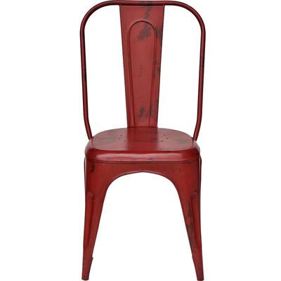 4er set metallstuhl im industriedesign rot chic24 vintage m bel und industriedesign lampen. Black Bedroom Furniture Sets. Home Design Ideas