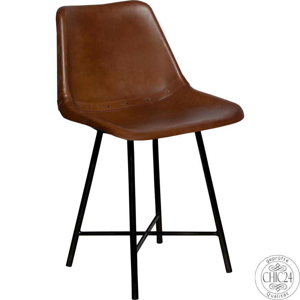stuhl leder antikbraun chic24 vintage m bel und industriedesign lampen online kaufen 159 00. Black Bedroom Furniture Sets. Home Design Ideas