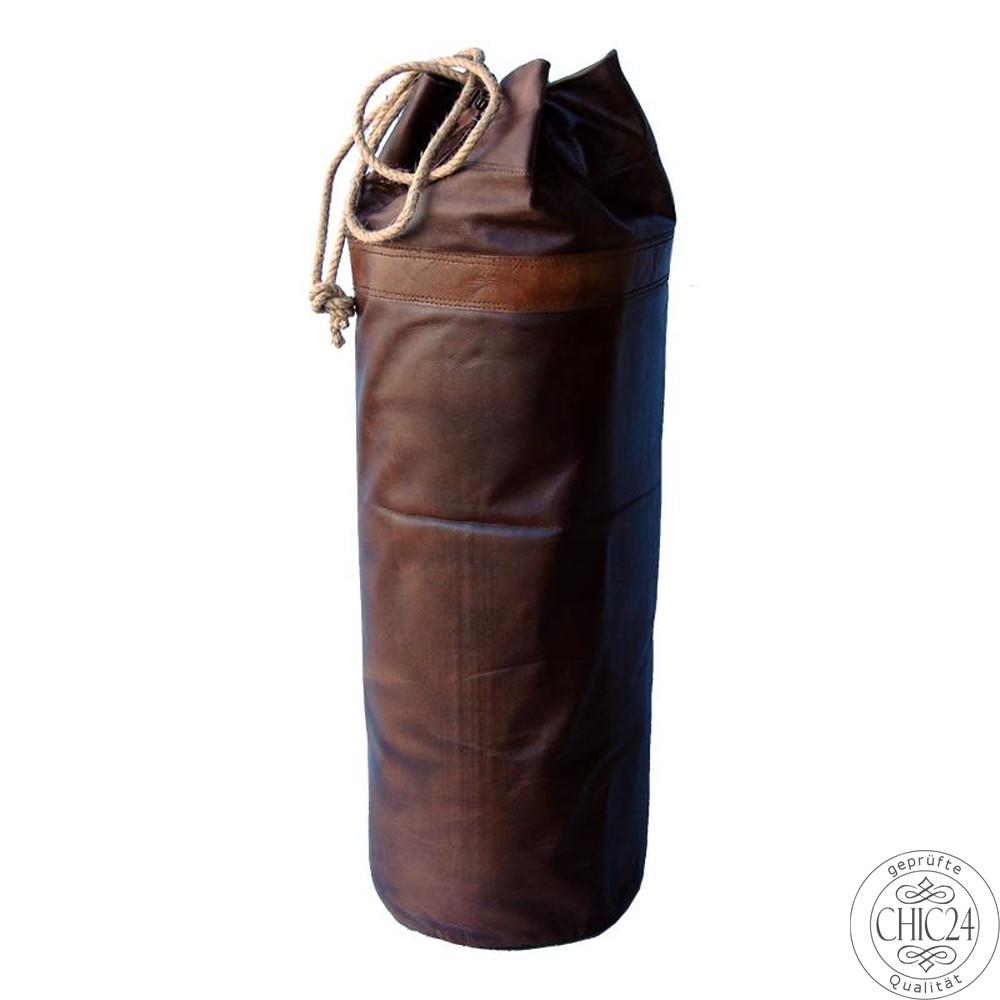 Boxsack Quot Retro Quot Leder Braun Chic24 Vintage M 246 Bel Und