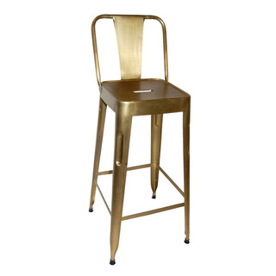 Barhocker Mit Rückenlehne barhocker mit rückenlehne metall gold chic24 vintage möbel und
