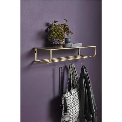 garderobe in gold von nordal mit haken chic24 vintage