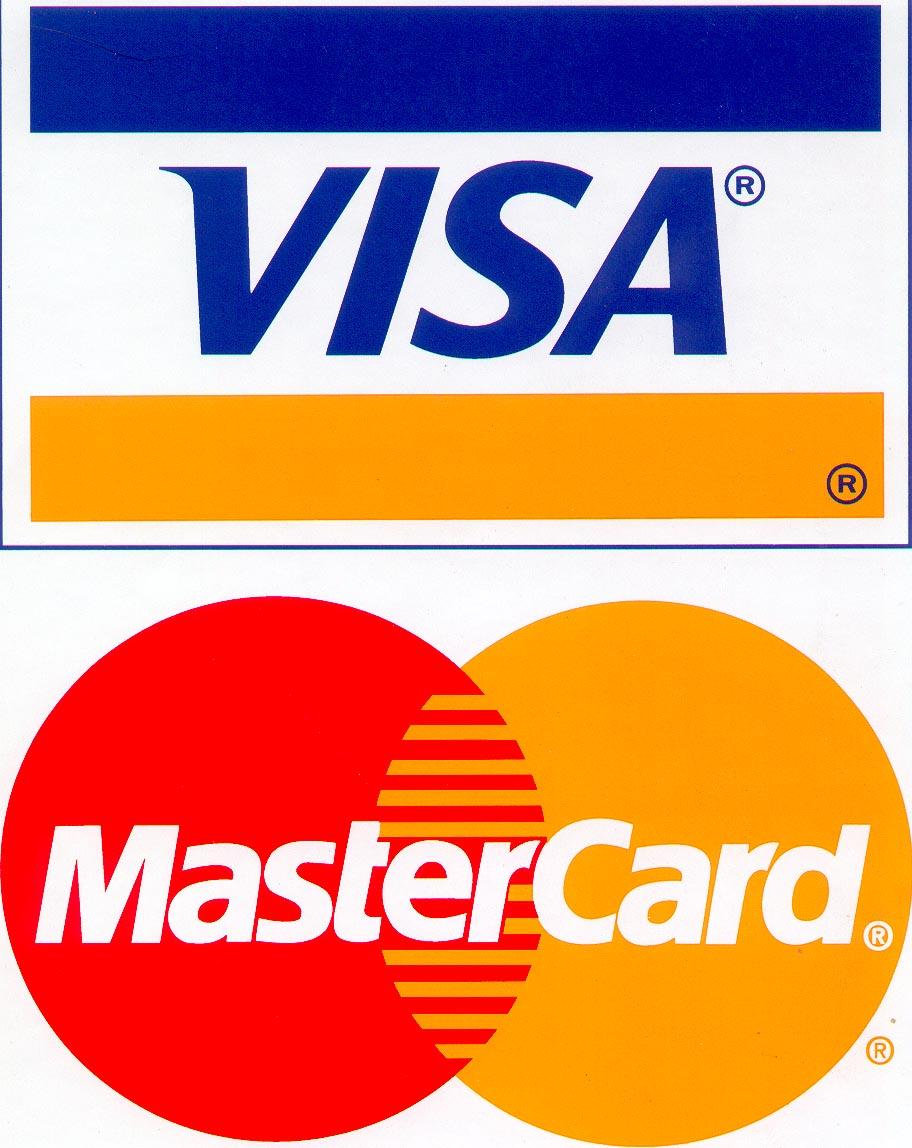 Bezahlung mit Kreditkarte über Visa oder Mastercard